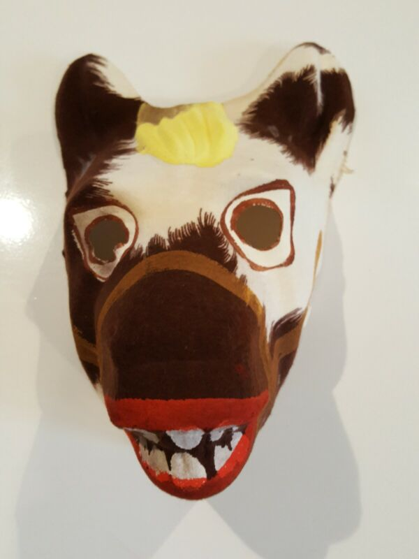 Vintage Painted Linen Fabric horse/donkey Face Mask