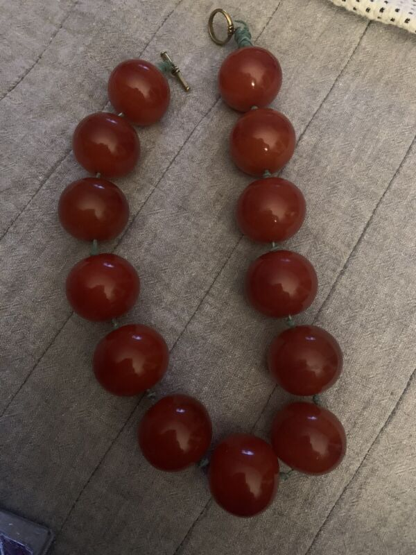 Vintage African Copal - Large Trade Bead Necklace