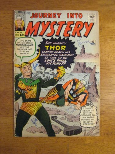 JOURNEY INTO MYSTERY/THOR #92 Loki! (FN-) Colorful & Glossy!