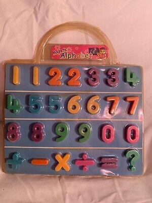 Magnetic 123 Alphabet Numbers Learning Refrigerator Fridge Magnets