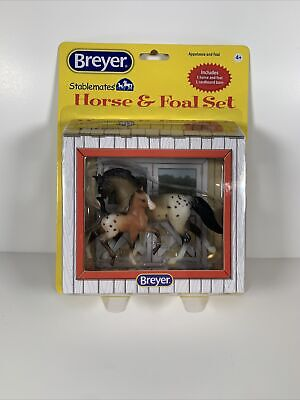 Breyer Horse Stablemates Horse and Foal Set 5921 Appaloosa and Foal NEW
