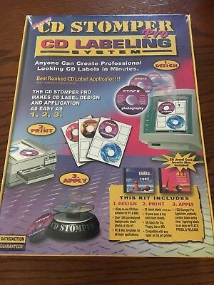 Stomp Inccd Stomper Pro Cd Labeling System - New Sealed