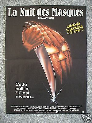 HALLOWEEN *ORIGINAL MOVIE POSTER FRENCH SMALL JOHN CARPENTER MICHAEL MYERS MASK](Michael Myers Mask Original Halloween)