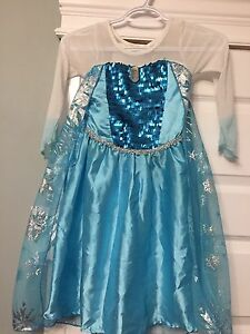 Princess Elsa dress with shoes and wig
