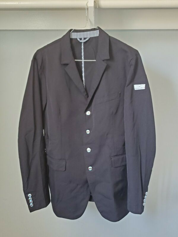 Animo Equestrian Men Show Competition Black Jacket Made In Italy Size I-50/D-50