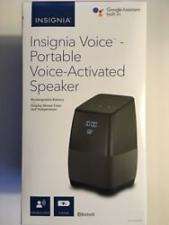 Insignia™ - Voice™ Smart Portable Bluetooth Speaker and Alarm Clock with...
