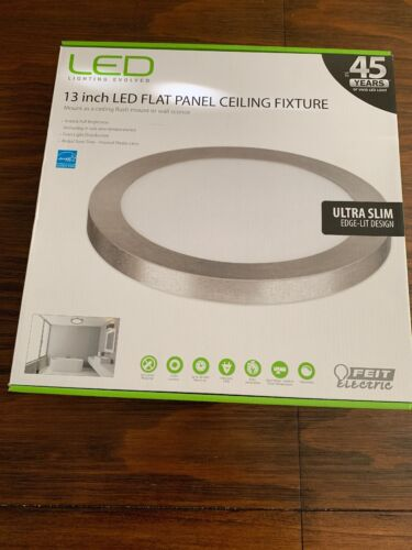 Feit Electric 74045-G2 13 Round Flush LED Dimmable Ceiling L