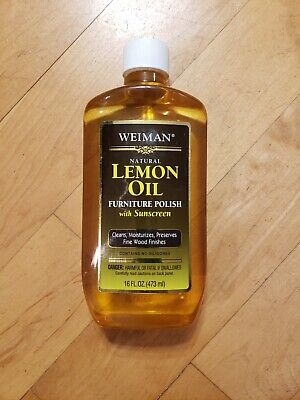 Weiman Natural Lemon Oil Furniture Polish with Sunscreen 16oz - Brand New -