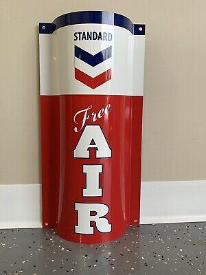 Sinclair Free Air Curved Metal  Gasoline Gas sign Pump Oil WOW!!!