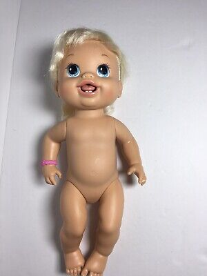 "Baby Alive Doll Blonde Baby's New Teeth Teething Drinks Wets 14"" Hasbro 2010 for sale  Basehor"