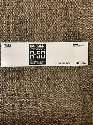 5 PK Max R-50 Black Ink Roller For Ec-30a, Ec-70, Ec-30, And Ec-50 Check Writers
