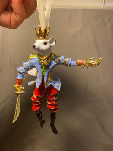 Trimsetter Dillards Cloisonne Christmas Ornament Mouse Marionette New