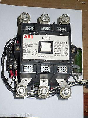 Abb Eh 145 Contactor 3 Pole 600 Vac Eh145c-y11 Used