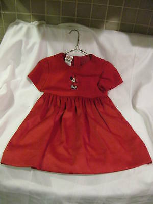 Toddler Girls Disney Store Minnie Mouse Red Holiday Dress Size 6 6X ](Toddler Girl Clothing Stores)