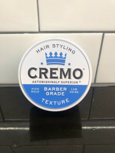 Cremo Hair Styling Pomade Paste 4oz Barber Grade High Hold,