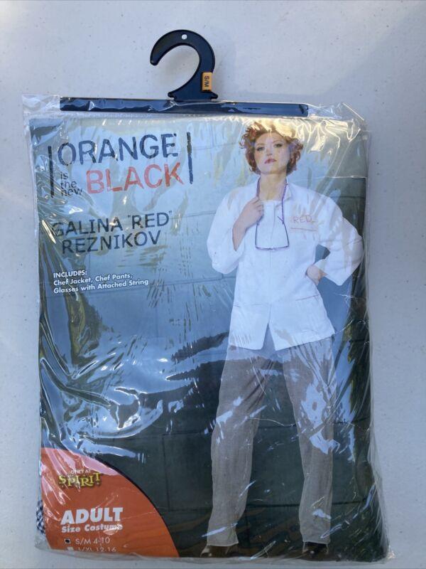 "Orange is the new Black Galina ""Red"" Reznikov Halloween Costume Size S/M Chef"