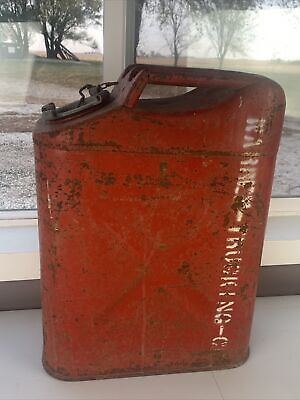 Vintage Jerry Can Usmc 20-5-71 Red Metal Fuel Container Gasoline 5 Gallon