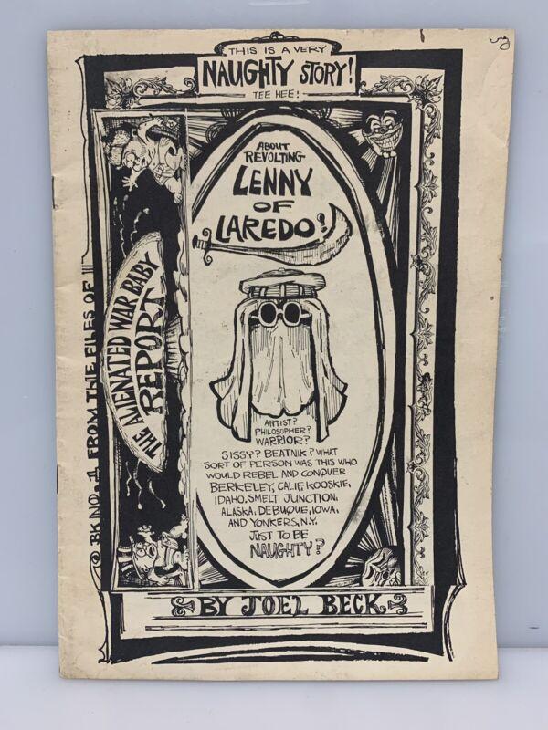 LENNY OF LAREDO #1 Publisher The PRINT MINT Joel Beck Early Underground Comix