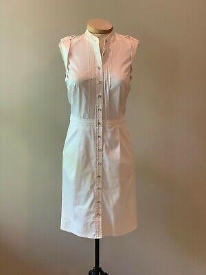 ETCETERA WHITE BUTTON-FRONT SLEEVELESS SHIRT DRESS sizes 2 4 6 8 10 12 NEW (Sleeveless Button Front Dress)