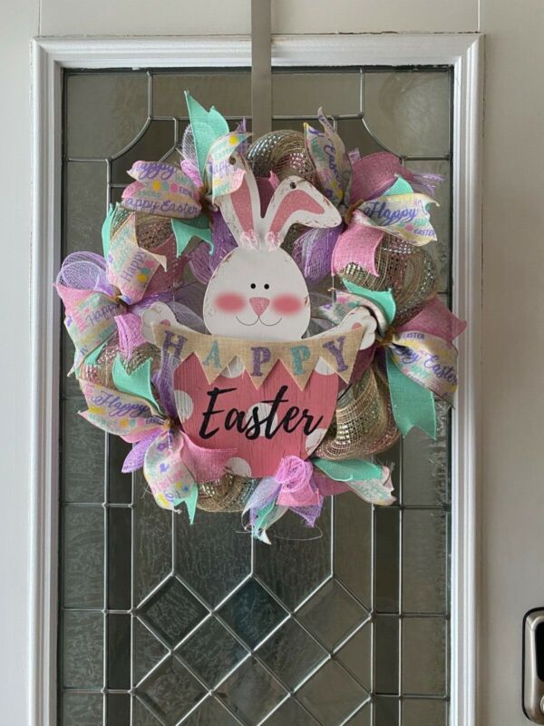 easter spring wreath, Easter decor,