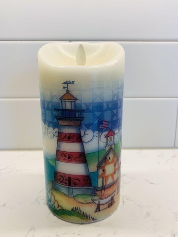 Jim Shore Bethlehem Lights Luminara SUMMER SEA SCENE Candle