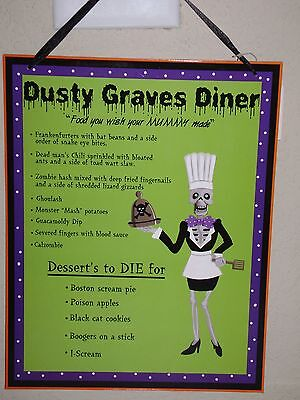 HALLOWEEN KITCHEN MENU WALL DECOR