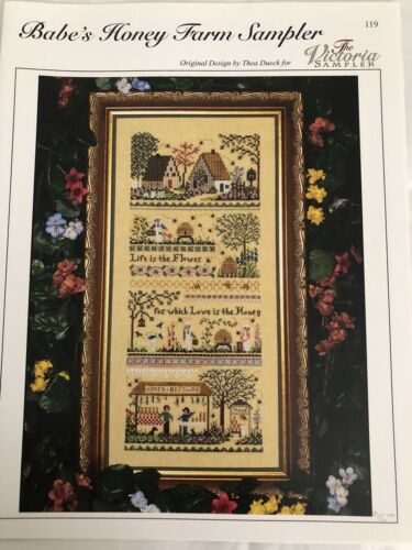 Cross Stitch Chart—Babe's Honey Farm Sampler by Victoria