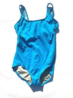 Ocean Blue Cup (LANDS' END Size 14 Ocean Blue One Piece Underwire Cup Swimsuit)