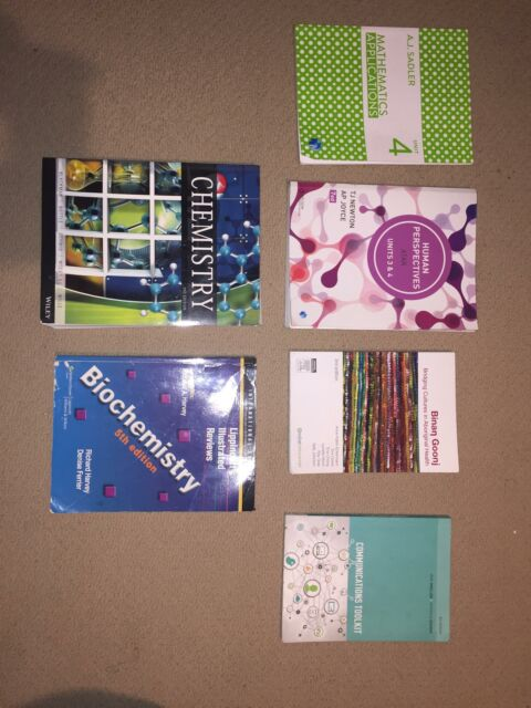 Year 12 and Uni text books (see description for prices/