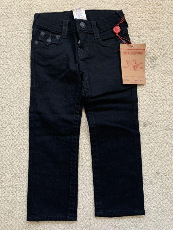 True Religion Jack Jeans Black Toddler Boys Size 3T NWT