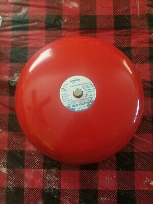 Amseco Msb-10b-pv4 Red Fire Alarm Bell Gong 12vdc .06a