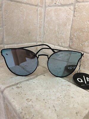 Quay Australia Sunglasses Women's All My Love Black/Purple NWT Incl. Soft -