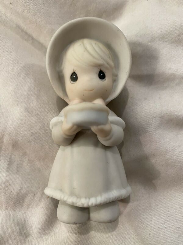 Precious Moments Girl Holding A Pie Figurine 312444