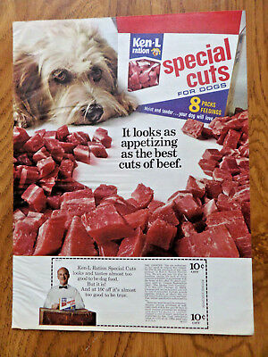 1972 Ken-L-Rations Dog Food Ad   Old English Sheep Dog