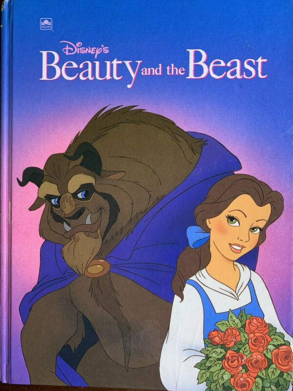 Golden Disney's Beauty And The Beast Hardcover 1991 Copyright