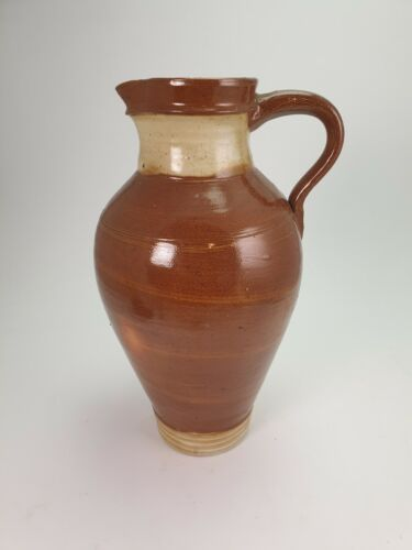 Vintage French Glazed Earthenware Jug Pitcher