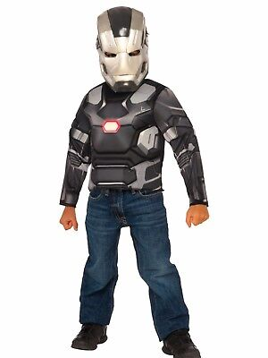 Captain America Civil War Muscle War Machine Costume Marvel Size 4-6 NEW 31722 (Warmachine Costume)