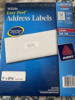 Avery Easy Peel Address Labels 4200-count 140 Sheets Template 51608160