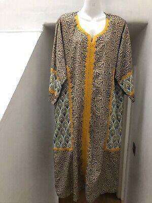 "Unisex Kaftan Men's Ladies Dress Hippie Boho Ethnic One Size 50"" M L 12"