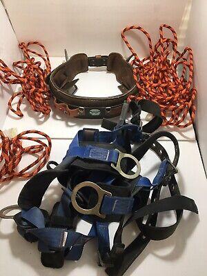 Buckingham Ring Lineman Pole Climbing Body Belt - Size 32 Usa Falltech Harness
