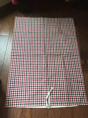 Antique French Linen KELSCH  Small Duvet Cover  Blue and Red