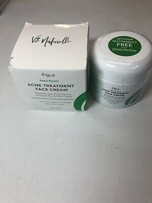 Acne Treatment Face Cream 5% Benzoyl Peroxide Rapid Results Vie Naturelle 2oz