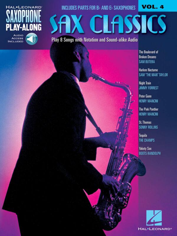 Sax Classics for Alto & Tenor Saxophone Play-Along Vol 4 Sheet Music Book Audio