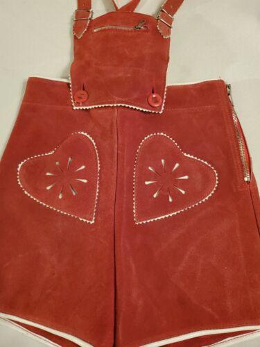 "US 2T, Waist 20"",Kids,Toddler,Germany,Trachten,Lederhosen Suspenders.RED.Hearts"