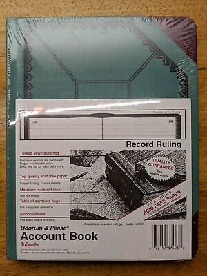 Boorum And Pease Canvas Account Book Journal 9 58 By 7 58 300 Pages Blue