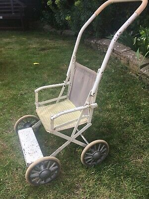 Vintage 1950s 1960s Childrens Dolls Pushchair