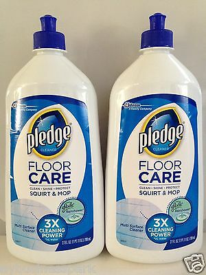 2 Pledge Floor Care Multi-surface Squirt & Mop Clean Shine Protect 27 oz. each ❤