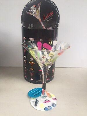 LOLITA Love My Martini FLIP FLOPS Martini Glass ~NEW In BOX~