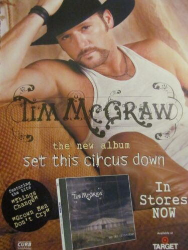 Tim McGraw, Set This Circus Down, Full Page Promotional Ad