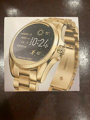 Michael Kors Access Gold Tone Stainless Steel Bradshaw Smartwatch (MKT5001)